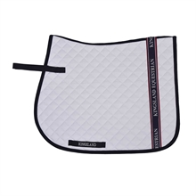 KINGSLAND KLBRETT SADDLE PAD W/COOLMAX WHITE DR/SPR
