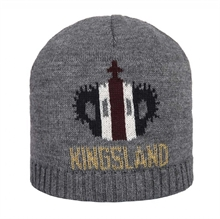 Kingsland Grey Light Hooper Knitted Hat